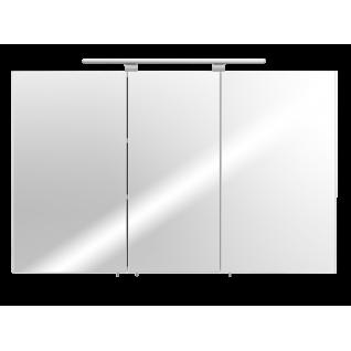Badmöbel Badezimmer Gästebad Spiegelschrank 110 cm breit, mit Lampe, weiß
