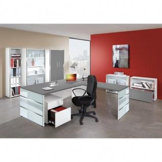 Büro Anbau Schreibtisch Lugano 100x60 cm Wangen-Gestell