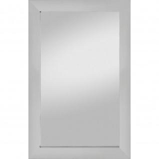 Rahmenspiegel Nora Edelstahloptik 72 x 112 cm