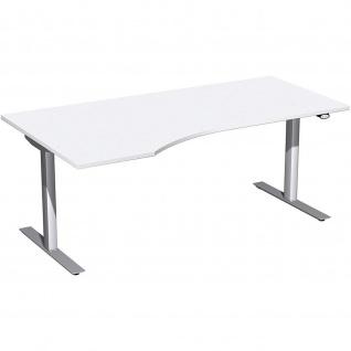 Elektro Flex Schreibtisch Freiform rechts oder links elektrisch höhenverstellbar 1800 x 800/1000 mm diverse Dekore - Vorschau 2