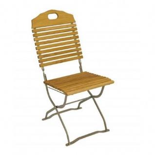Klappstuhl Holzstuhl Gartenstuhl Stuhl 2er Set, verzinkt