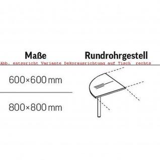 Verkettungsplatte 90° Schreibtisch E10 Toro Rundrohrgestell Höhe 740 mm verchromt - Vorschau 2