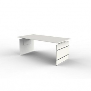 Schreibtisch Form 4 180x80x68-76 cm Wangen-Gestell