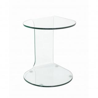Beistelltisch Couchtisch Glastisch Klarglas (B)47x(T)45x(H)51 - Vorschau 2