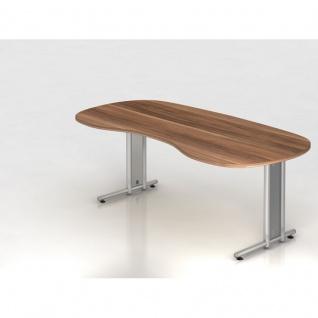 Büro Schreibtisch 200x100 cm Nierenform Modell NS20