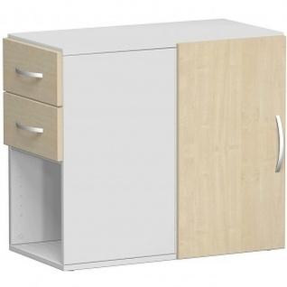 Gera Anstellregal Anstellcontainer Regal 2 OH inkl. Schubkästen und Tür - Vorschau 2