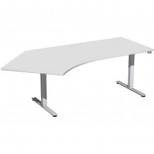 Elektro Smart Winkel-Schreibtisch 135° rechts oder links elektrisch höhenverstellbar 2166 x1130 mm diverse Dekore - Vorschau 5