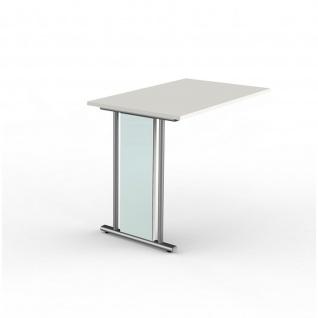 Büro Anbau Schreibtisch Lugano 100 x 60 x 75 cm C-Fuß-Gestell - Vorschau 2