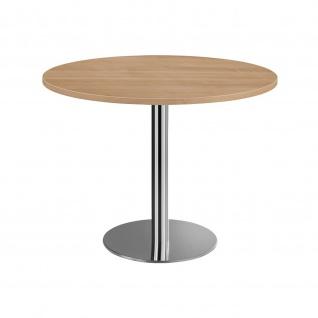 Hammerbacher Bistro Tisch Beistelltisch Besprechungstisch chrom 100 cm Durchmesser - Vorschau 2
