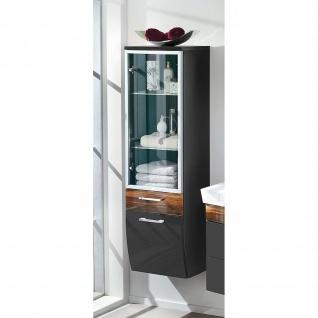 Badmöbel Badezimmer Gästebad Hochschrank Rima, mit Glastür, geschwungener Unterbau - Vorschau 2