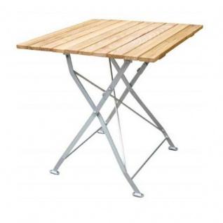 Klapptisch Holztisch Gartentisch Tisch, Gestell verzinkt 70x70 cm