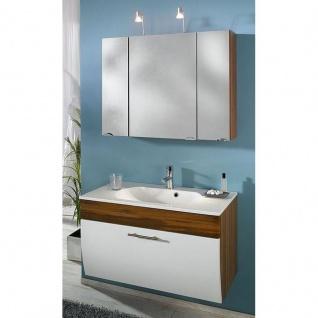 Gästebad Badezimmer Badmöbel Salona 1, komplett MDF Hochglanz Fronten
