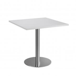 Bistro Tisch Beistelltisch Besprechungstisch 88 chrom 80 x 80 cm - Vorschau 2