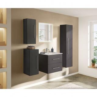 Badezimmer Badmöbel Hochschrank Hängeschrank HOMELINE 150cm anthrazit seidenglanz - Vorschau 1