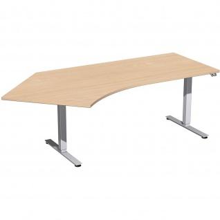 Elektro Smart Winkel-Schreibtisch 135° rechts oder links elektrisch höhenverstellbar 2166 x1130 mm diverse Dekore - Vorschau 3
