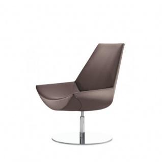 Design Lounge Sessel Mehrzwecksessel Kayak Fußsäule und Bodenteller verchromt einfarbig mittlere Lehne