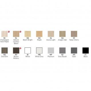Anbautisch Halbkreis Konferenztisch Schreibtisch E10 Toro Rundrohrgestell H:740 mm Alu, weiß, dkl.grau schwarz - Vorschau 4