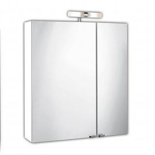 Badmöbel Badezimmer Gästebad Spiegelschrank mit Lampe, weiß