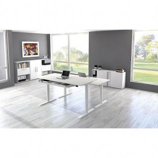 Kerkmann Stehtisch Schreibtisch MOVE 2 160x80x72-120 cm C-Fuß-Gestell alusilber verschiedene Dekore