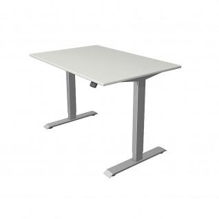 Kerkmann Schreibtisch Sitz-Stehtisch MOVE 1 silber 120x80x74-123cm elektr. höhenverstellbar - Vorschau 4