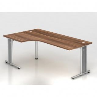 Büro Schreibtisch 200x120 cm Winkelform Modell NS82