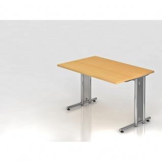 Büro Schreibtisch 120x80 cm Modell NS12C mit Chromfüßen