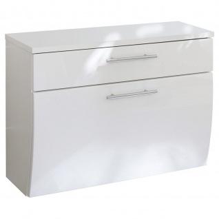 Posseik Gästebad Badezimmer Badmöbel Unterschrank Salona 70 cm breit MDF Hochglanz Fronten