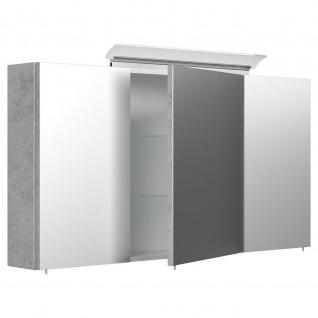 Posseik Design-LED-Spiegelschrank 120cm beton