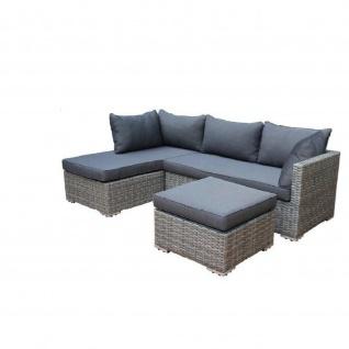 Loungegruppe Sitzgruppe 3 Teilig, Polyratten mit Sitzpolster