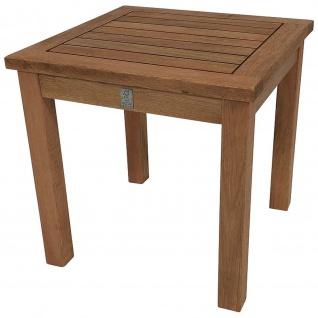 Gartentisch Beistelltisch Tisch 40x40cm Eukalyptusholz