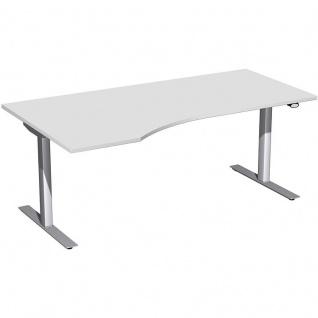 Elektro Flex Schreibtisch Freiform rechts oder links elektrisch höhenverstellbar 1800 x 800/1000 mm diverse Dekore