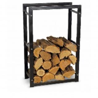 Brennholzregal R110A schwarzMaße:60/30/100 cm