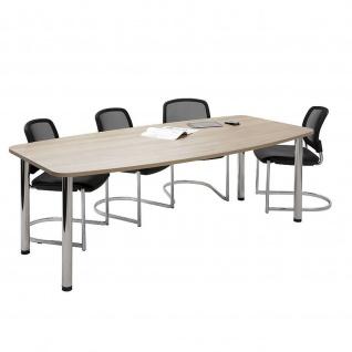 Hammerbacher Konferenztisch Besprechungstisch Meeting KT mit 4 Chromfüßen höhenverstellbar - Vorschau 5
