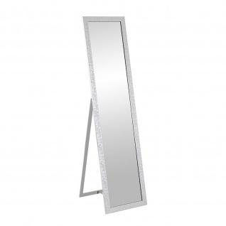 Standspiegel Pailettenoptik silber 156x40cm