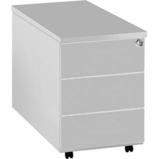 Rollcontainer Form 4 weiss 3 Stahlschubladen