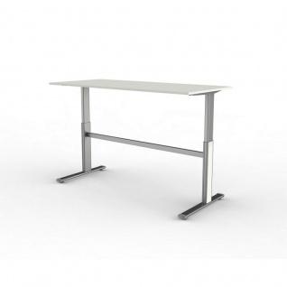 Büro Schreibtisch Stehtisch Form 4, 180x80x72-114 cm C-Fuß-Gestell Typ D elektrisch höhenverstellbar