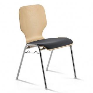 Mayer 2116 Besucherstuhl Stapelstuhl 4 Fuß chrom Sitz gepolstert