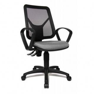 Topstar Bürodrehstuhl Design Bürostuhl Airgo Net in Netz-Optik schwarz, Sitz verschiedene Farben