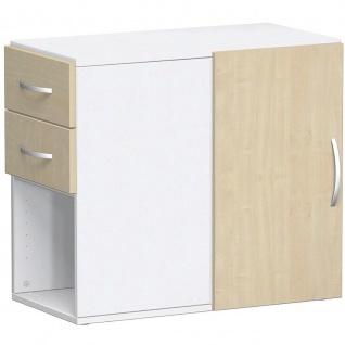 Gera Anstellregal Anstellcontainer Regal 2 OH inkl. Schubkästen und Tür - Vorschau 3