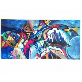 Modernes Abstraktes Gemälde Bild Motiv Eclipse 70x150cm