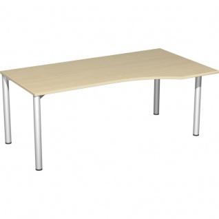 PC-Schreibtisch Bürotisch 4 Fuß Flex rechts, 180 x 100 cm, Gera