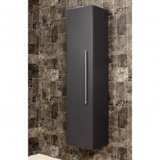 Badezimmer Badmöbel Hochschrank Hängeschrank HOMELINE 150cm anthrazit seidenglanz - Vorschau 3
