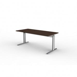 Kerkmann Schreibtisch 3709 Form 4, 180x80x68-82 cm C-Fuß-Gestell Typ B höhenverstellbar - Vorschau 3