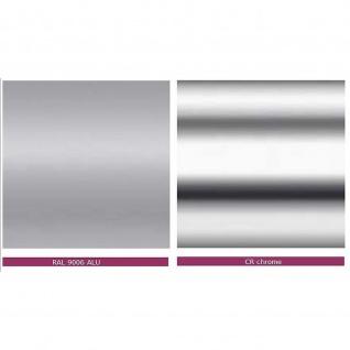Konferenztisch Bürotisch Beistelltisch StehtischTellerfuß H:1135 mm D:800 mm Alu oder verchromt - Vorschau 3
