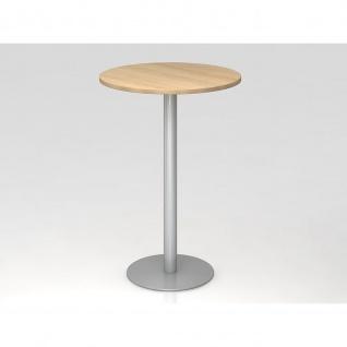 Bistro Tisch Stehtisch Besprechungstisch 08 silber 80 cm Durchmesser - Vorschau 4