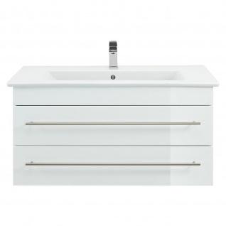 Badmöbel Villeroy&Boch Waschplatz Waschbecken Venticello 100cm mit Unterschrank weiß Hochglanz