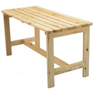 Gartentisch Tisch aus massivem Kiefernholz unbehandelt/natur
