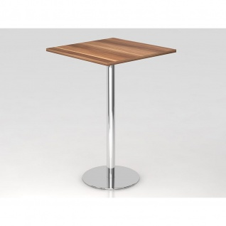 Bistro Tisch Stehtisch Besprechungstisch 08 chrom quadratische Tischplatte 80x80cm - Vorschau 4