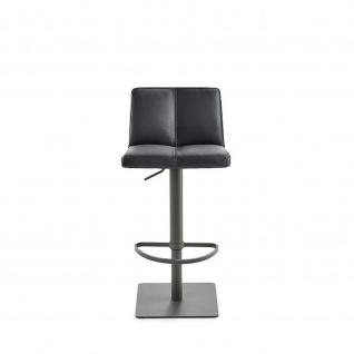 Mayer 1285 Design Lift Barhocker MY Timo Leder Optik schwarz 14 grau