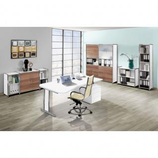 Kerkmann Schreibtisch Freiformtisch Artline 195x80 cm C-Fuß chrom